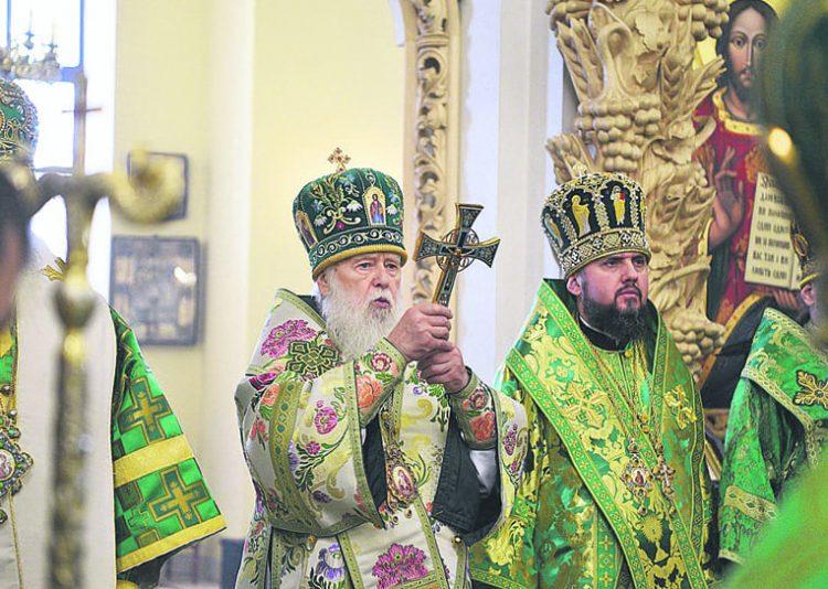 Филарет, церковь, УПЦ КП, ПЦУ, томос, Епифаний, церковная служба, священники
