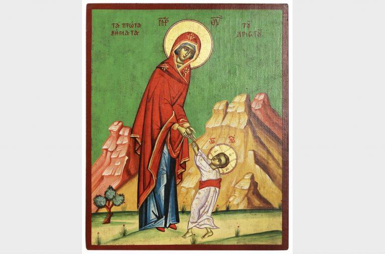 Иконы Богородицы, редкие иконы, Первые шаги Христа