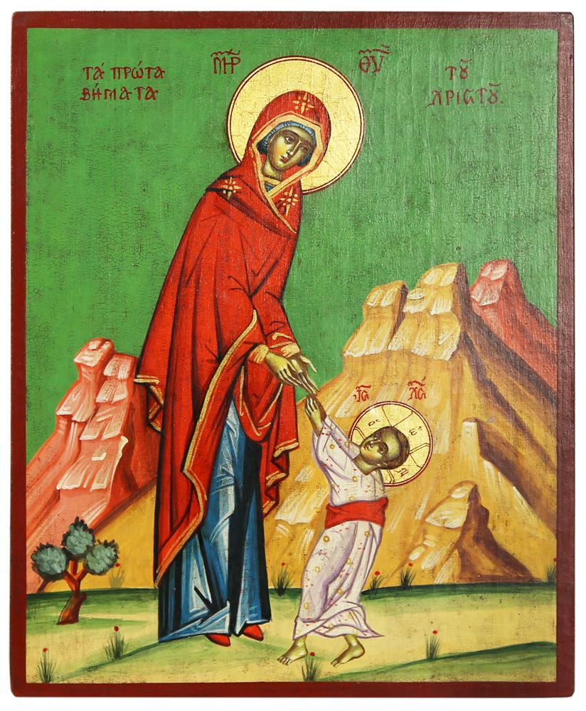 Икона первые шаги, Редкие иконы Богородицы, греческая икона, лимонос
