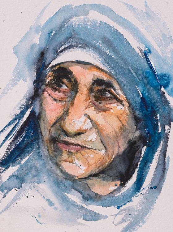 Мать Тереза, святая, личный бренд, картина