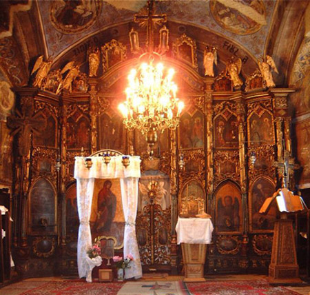 иконы Богородицы, монастырь в Румынии, икона Первые шаги, молодым семьям