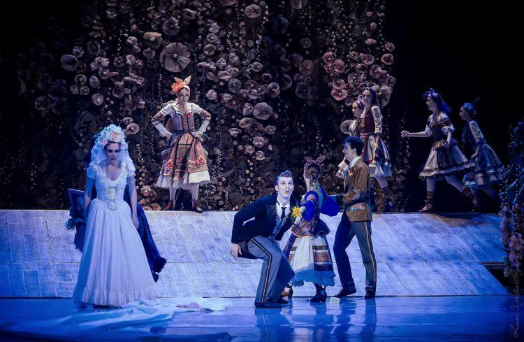 Афиша оперы, балет, Киев, За двумя зайцами