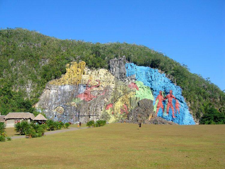 Куба, доисторическая фреска, мурал