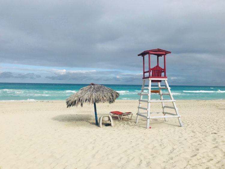 Варадеро, Куба, пляж, спасательная будка