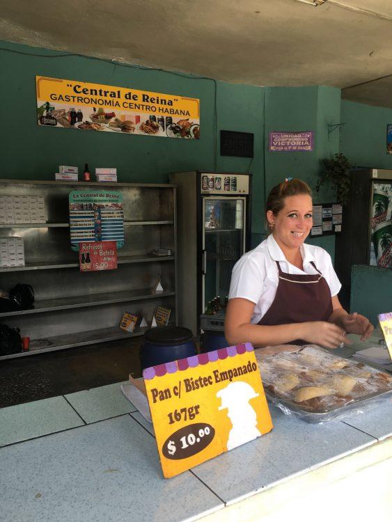 Куба, репортаж, остров несвободы, прилавок в магазине