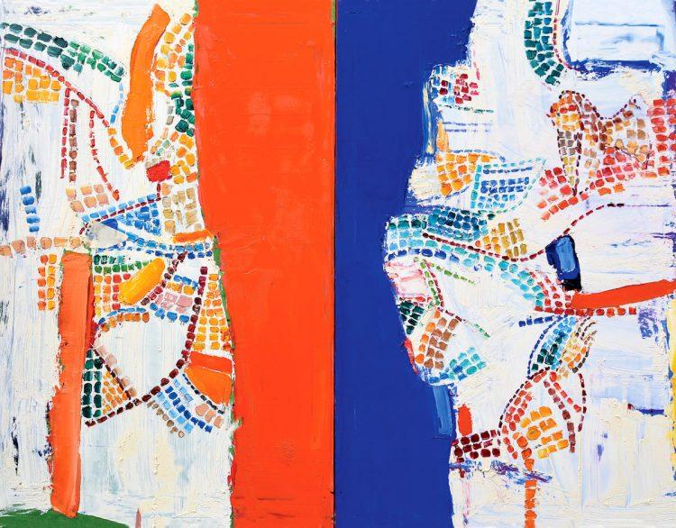 выставка Анны Криволап, картина, мозаика