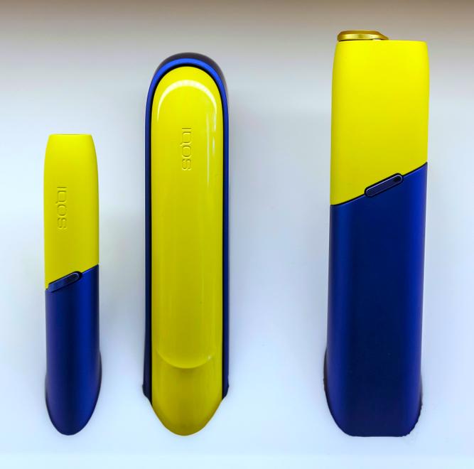 сине-желтый IQOS
