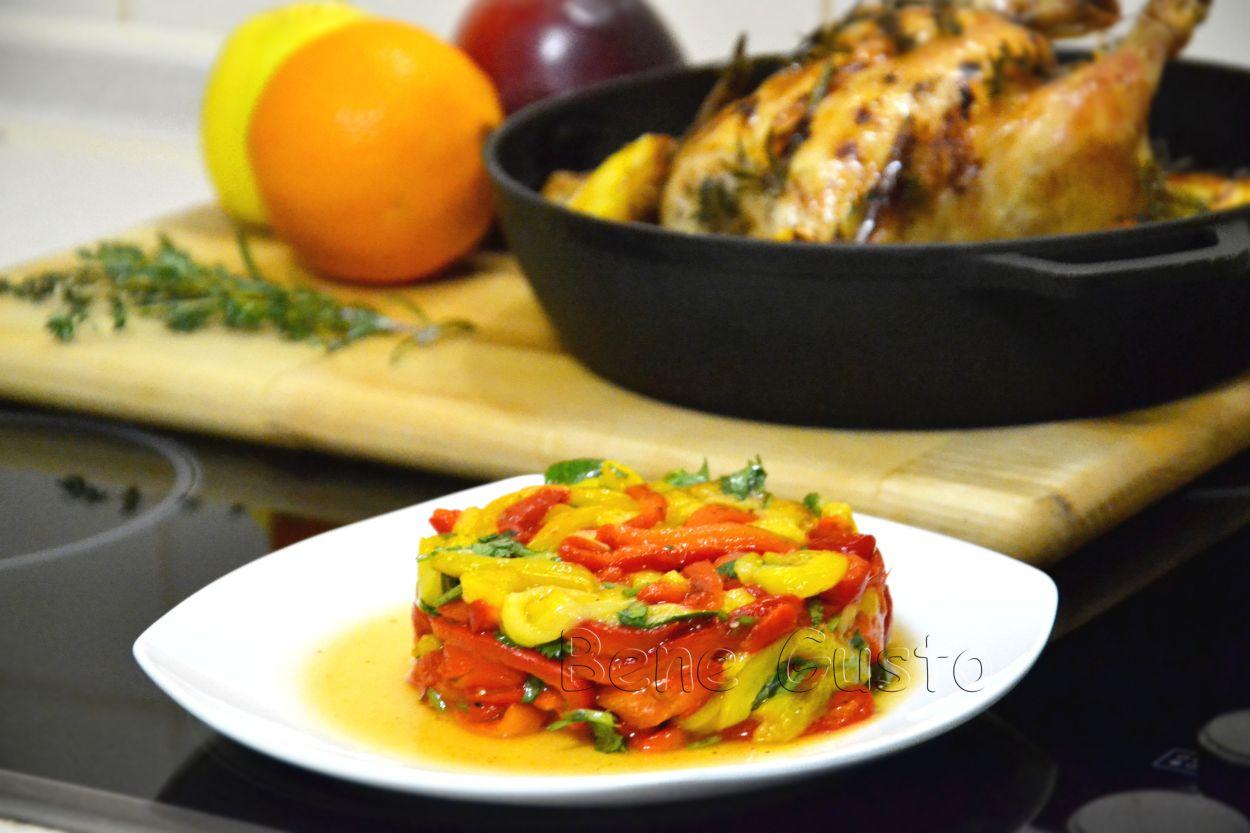 Рецепт дня — салат с печеным перцем