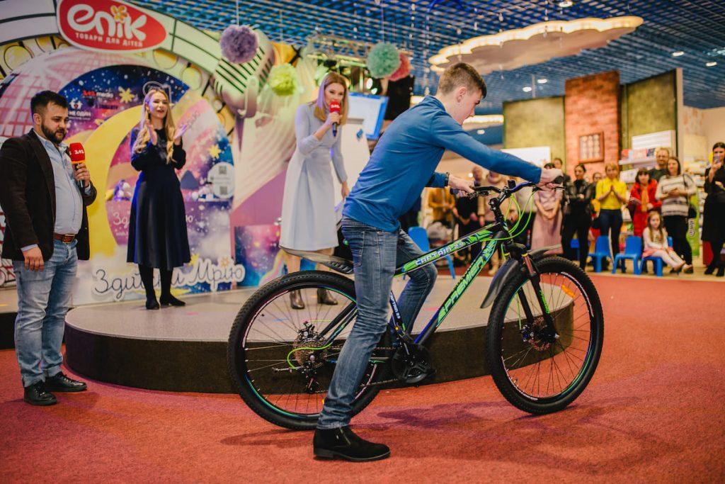 карусель мечтаний, 1+1, эпицентр, акция, подарок, велосипед