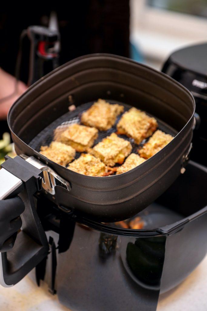 куриные нагетсы, полезная еда, без жира, техника Philips, печь