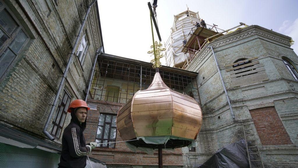 Киево-Печерская лавра, ремонт, храм прп. Агапита Печерского