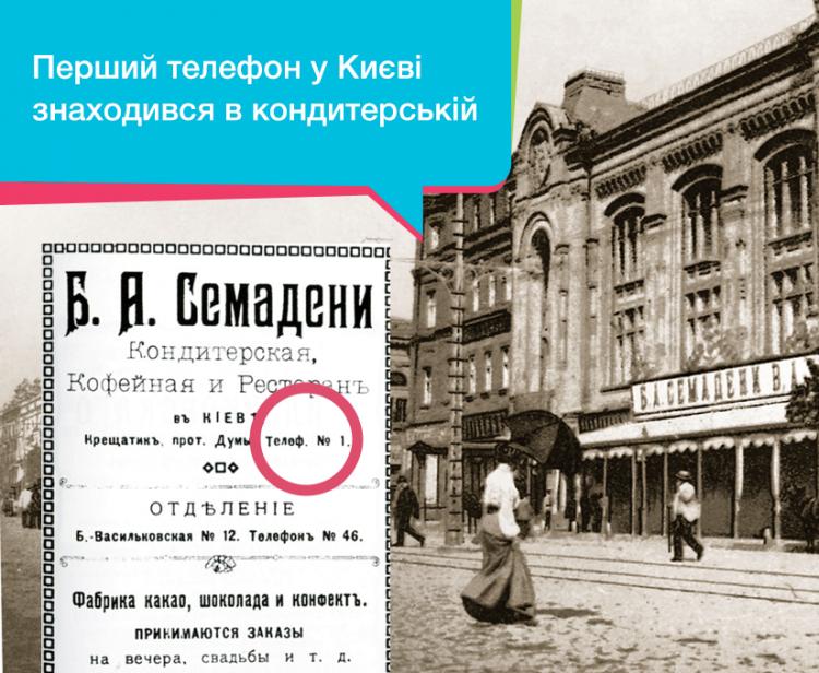 телефон, Киев, реклама, Семадени, первый телефонный номер в Киеве, История уличных телефонов