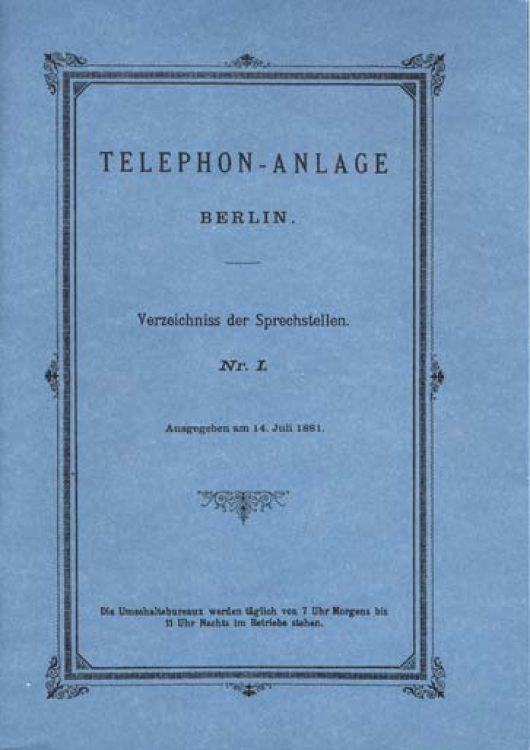 история, первый телефонный справочник, Германия, Das Buch der 99 Narren