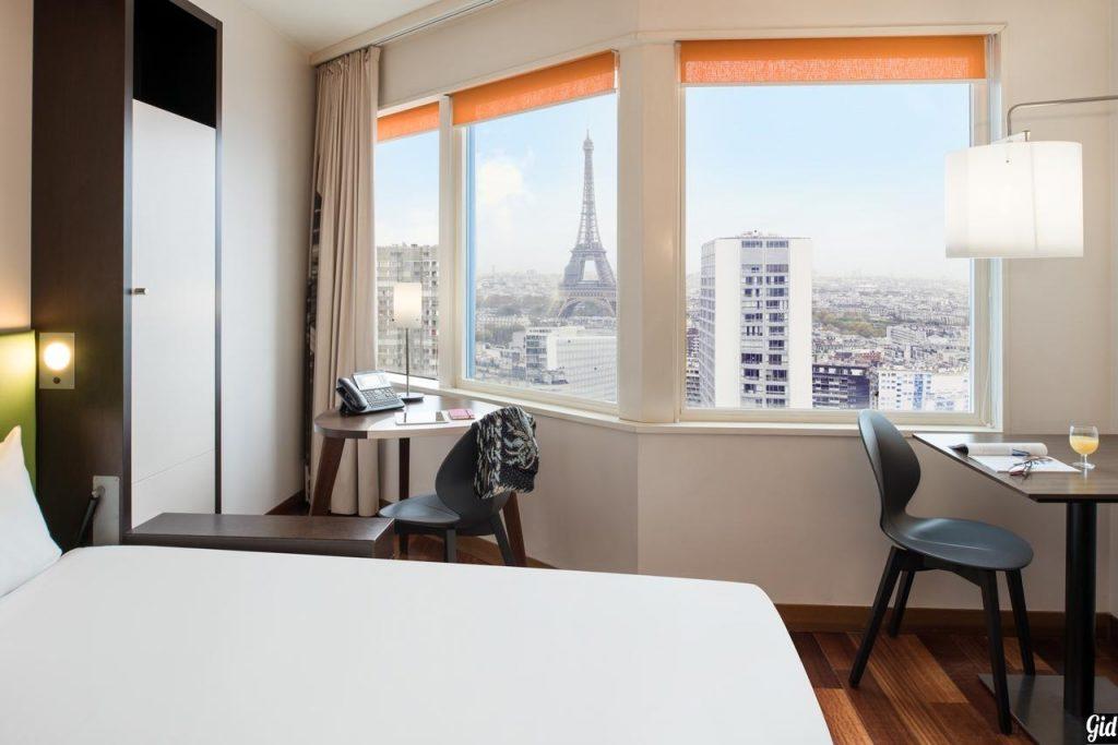 Adagio Paris Centre Tour Eiffel, отели Парижа, отели с видом на Эйфелеву башню, Париж, Франция, вид из окна, дизайн, апарт-отель