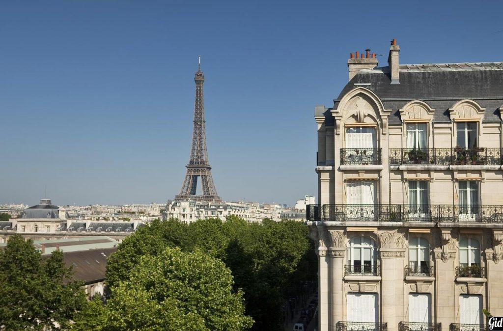 Duquesne Eiffelотели Парижа, отели с видом на Эйфелеву башню, Париж, Франция, вид из окна, Дом инвалидов, панорама