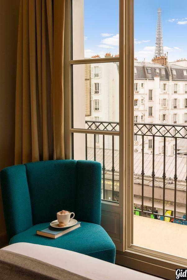 Hotel Le Walt, отели Парижа, отели с видом на Эйфелеву башню, Париж, Франция, вид из окна