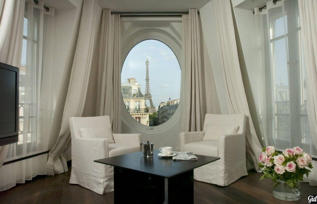 Le Metropolitan a Tribute Portfolio, отели Парижа, отели с видом на Эйфелеву башню, Париж, Франция, вид из окна