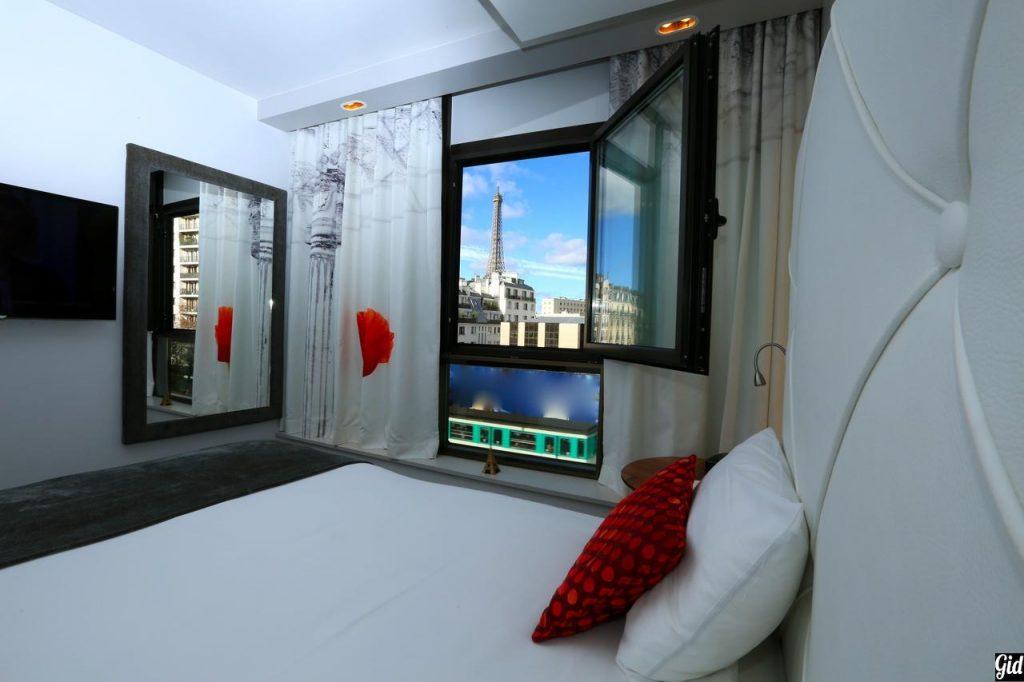 Le Parisis, отели Парижа, отели с видом на Эйфелеву башню, Париж, Франция, вид из окна, бронировать отель в париже