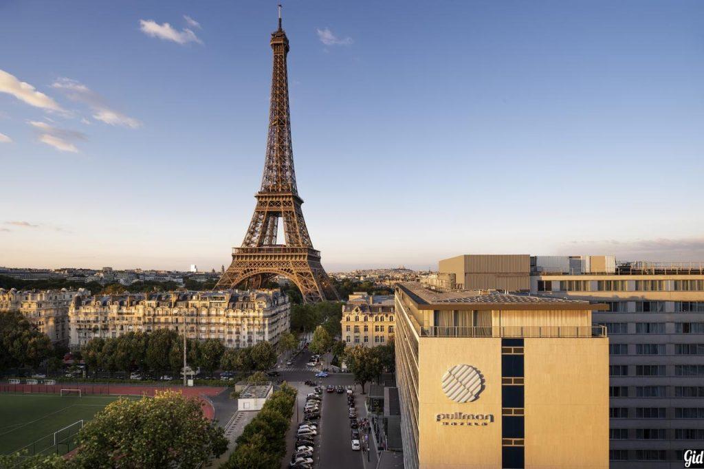 Pullman Paris Tour Eiffel, отели Парижа, отели с видом на Эйфелеву башню, Париж, Франция, вид из окна