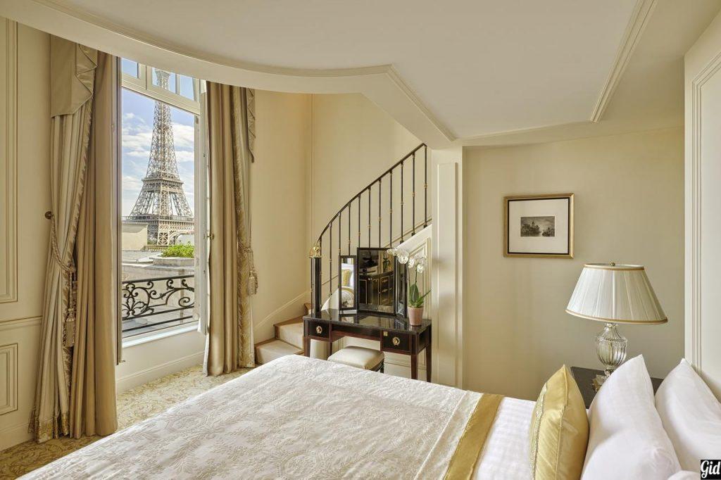 shangri-la hotel paris, отели Парижа, отели с видом на Эйфелеву башню, Париж, Франция, вид из окна