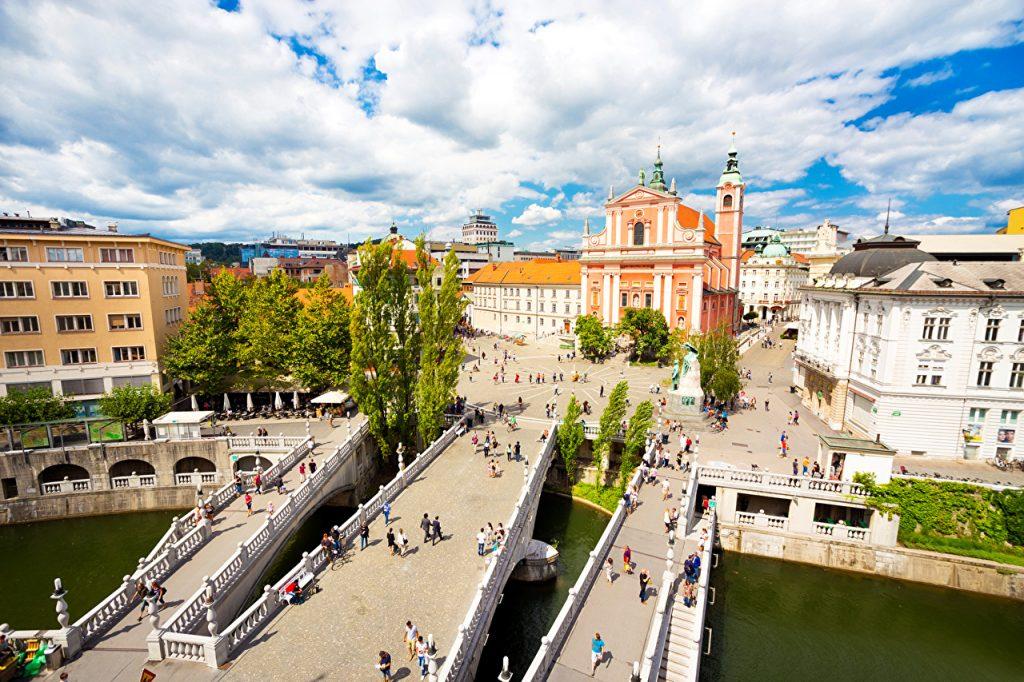 Любляна, Словения, коронавирус пока не обнаружен
