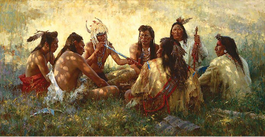 трубка мира, индейцы, ритуал