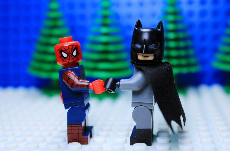lego, бетмен, спайдермен
