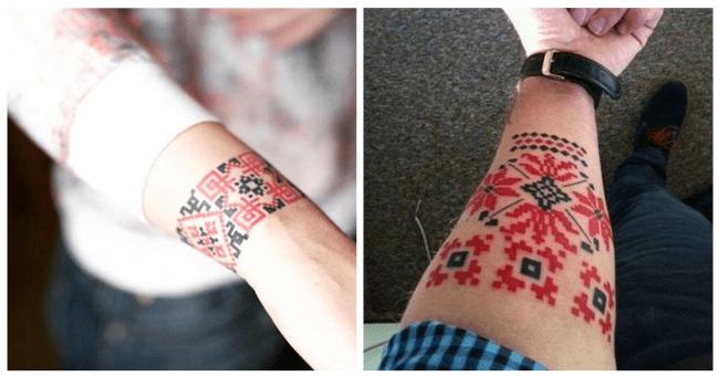 вышиванка, татуировка
