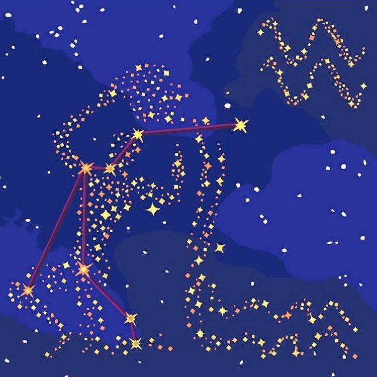Водолей, звезды, зодиак