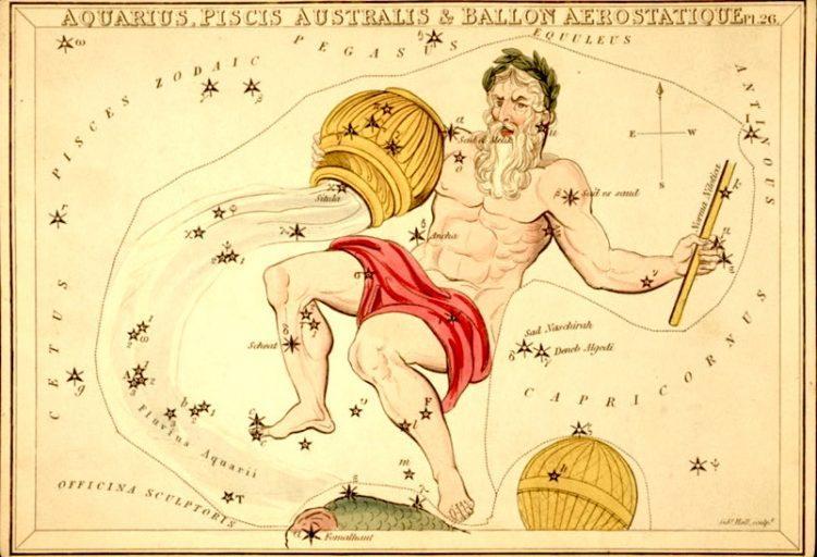 эра Водолея, астрология, будущее, прогноз, старинная карта