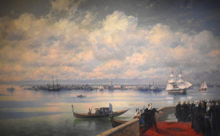 Айвазовский в Венеции, Байрон в Венеции, картина, остров Святого Лазаря