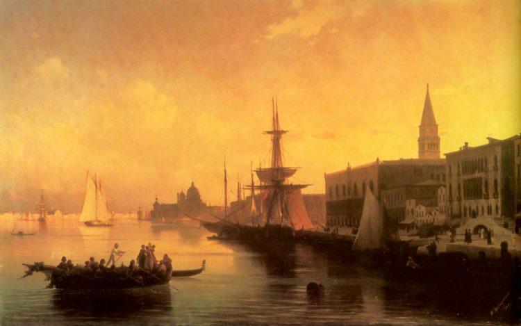 Айвазовский, Венеция, картина, 1842