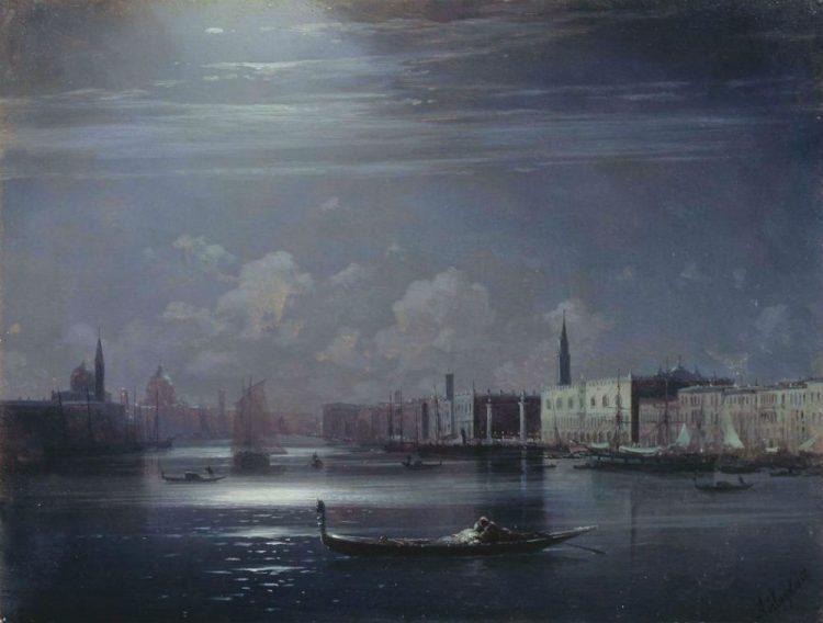 Иван Константинович Айвазовский - - Ночной пейзаж Венеция