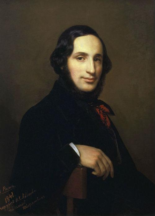 Алексей Васильевич Тыранов (1808-1859) - Портрет Ивана Айвазовского - 1841