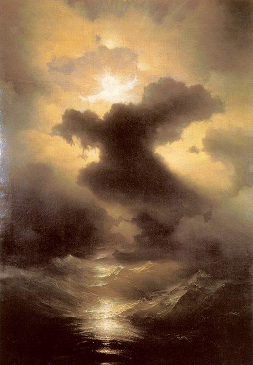 Айвазовский в Венеции, картина, Хаос, Сотворение мира, 1841