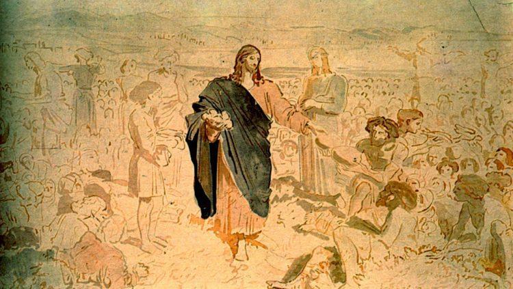 Александр Иванов, Умножение хлебов, чем питался Иисус Христос