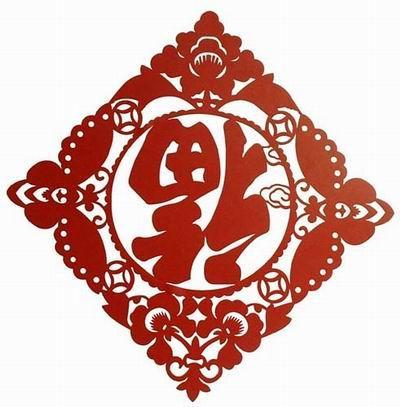 Китайский Новый год, Перевернутый иероглиф «福» (фу - благополучие)