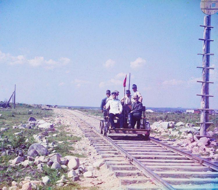 На дрезине рядом с Петрозаводском на Мурманской железной дороге