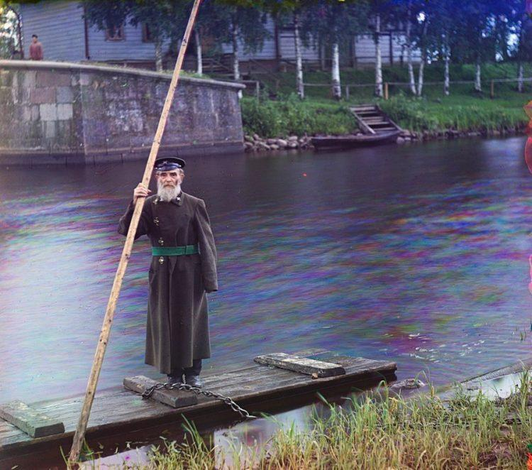 Пинкус Карлинский, 84 года. 66 лет служит смотрителем на Черниговском шлюзе, Сергей Прокудин-Горский