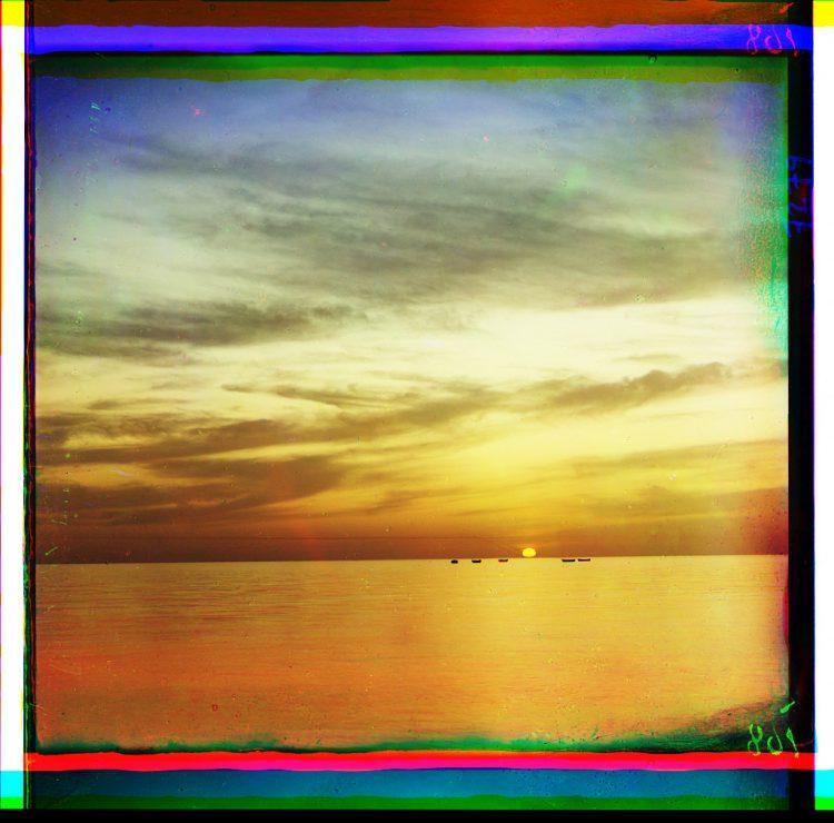 закат солнца, Гагры, историческое фото