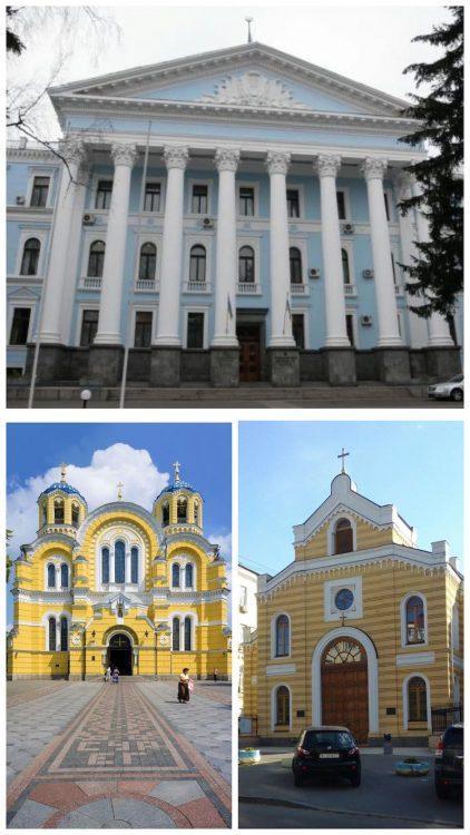 Киев, архитектор Иван Штром, Владимирский собор, Лютеранская кирха, Кадетский корпус, Министерство обороны Украины