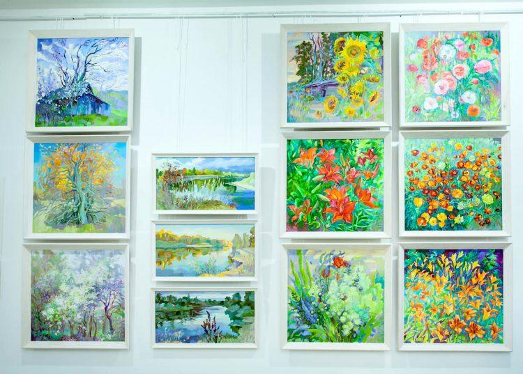 живопись, картины, цветы, Мария Левицкая